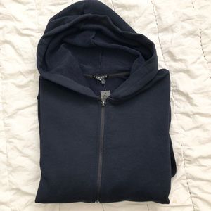 Men's navy Theory hoodie size MD